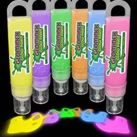 Glominex Glow in the Dark Paint - 6 Pack of 1oz Assorted Tubes
