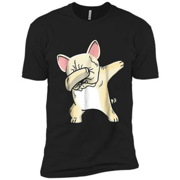 Frenchie Dabbing  French Bulldog Kids Clothes Next Level Premium Short Sleeve Tee