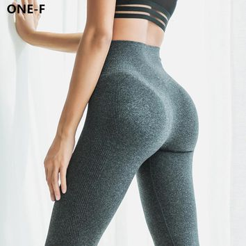 ONE-F high waist yoga pants women seamless skinny fitness gym leggings breathable workout activewear yoga leggings