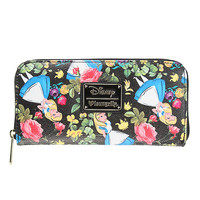 Loungefly Disney Alice In Wonderland Floral Zip Wallet