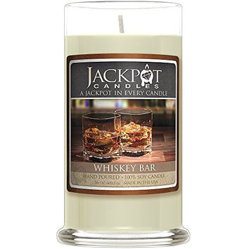 Whiskey Bar Candle with Ring Inside (Surprise Jewelry Valued at $15 to $5,000) Ring Size 7
