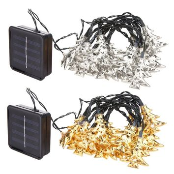 20 LED Solar Power LED String Lights Waterproof Holiday LED Strip Lighting For Fairy Christmas Tree Wedding Party Decoration