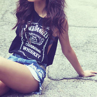 Jack Daniels cut off tee by lucidacid on Etsy