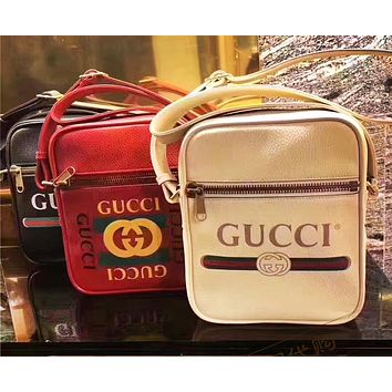 GUCCI Tide brand classic letter logo printing female models shoulder diagonal cross bag