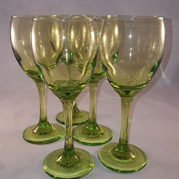 Bright Lime Green Goblets
