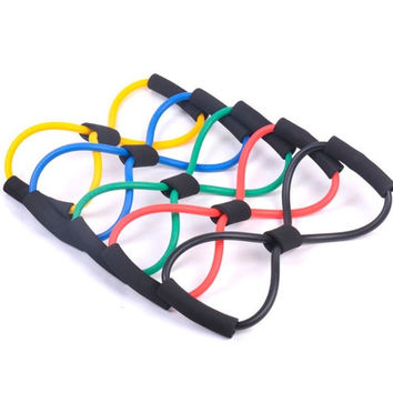 1pc Yoga Exercise Resistance Bands Gym Fitness Rope Muscle Stretch Workout Tube = 1933091972