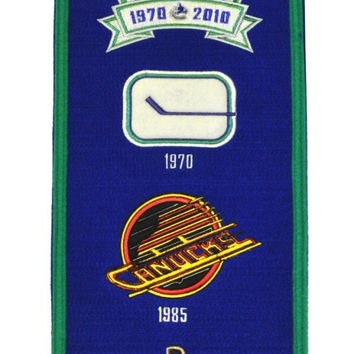 "Vancouver Canucks Wool 8""x32"" Heritage Banner"