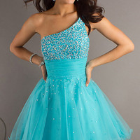 Stock One-shoulder Girl's Party Cocktail Dress Prom Evening Dresses Size 6-16