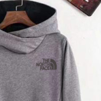 The North Face women's velvet hoodie F-ZDL-STPFYF  Gray