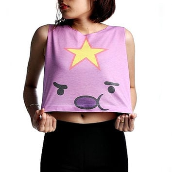 LSP Lumpy Space Princess Shirt Crop Top Tank Top Women Shirts Size S M L