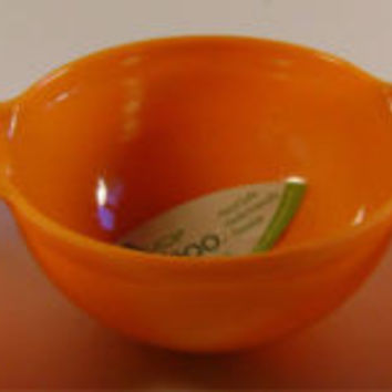 Orange Reduce Melaboo Triple Serving Bowl Bamboo Condiments Round Sections