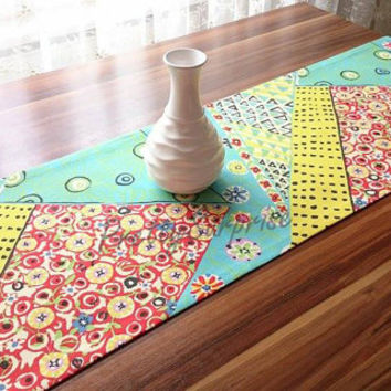 New!! MultiColor Boho Chic Table Runner, Floral Table Runner, Bohemian Table Runner, Garden Decor, Cottage Chic Tablecloth