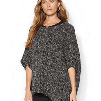 Lauren Ralph Lauren Cotton Blend Boatneck Poncho
