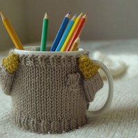 Cozy Mug Sweater, in Greyish Beige