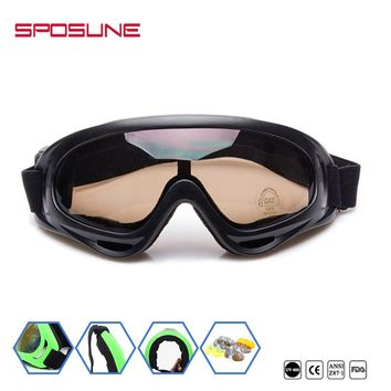 Motorcycle Goggles for Men Women,Airsoft Goggles UV400 Protective Light Anti-Glare Windproof Dustproof Ski Goggles Safety Goggle