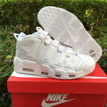 Nike Air More Uptempo Triple White 921948-100 US7-12