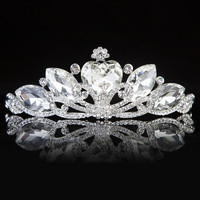 Exquisite Fashion Alloy Crystal Tiara (Size: 0, Color: White) = 1929477124