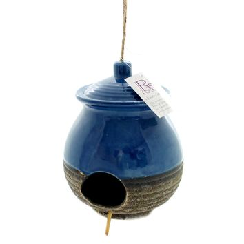 Home & Garden CERAMIC BIRD HOUSE GINGER JAR Ceramic Garden Accent 11857