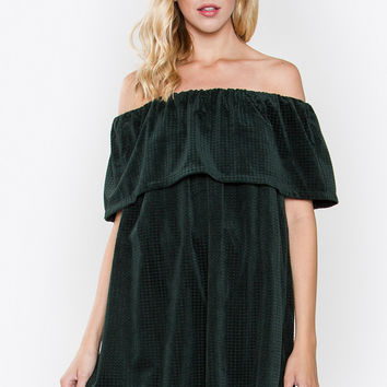 JILLIAN OFF THE SHOULDER DRESS