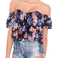 Flower Power Crop Top - Floral Print