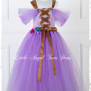 Tangled Rapunzel Purple Tutu Dress - Handmade purple tangled fancy dress costume - Themed Birthday  ***FAST INTERNATIONAL SHIPPING***