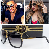 New Dita Mach One Gradient Lens Sunglasses Men Women Brand Design Sun Glasses Vintage Retro Classic Oculos De Sol Gafas