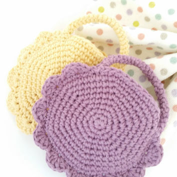 Soap Saver Spa mitt handmade ecofriendly Good Habit Rabbit bath accessories Cotton crochet baby soft Easter basket gift for her Gift Idea
