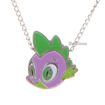 Licensed cool NEW My Little Pony SPIKE BABY DRAGON Pendant Silver Tone Necklace  SHIPPING