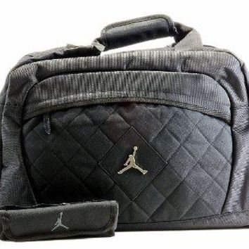 Nike Jordan Jumpman Logo Black Medium Duffle Bag