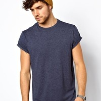 ASOS T-Shirt With Relaxed Skater Fit And Roll Sleeve