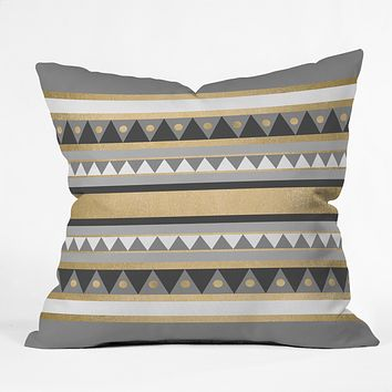 Elisabeth Fredriksson Golden Tribal Throw Pillow