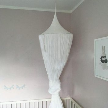 Nordic Canopy Decoration. Gorgeous White Dome for Bedroom Decor.