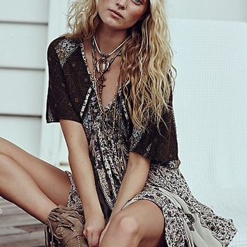 Free People Womens Wild World Mini Dress