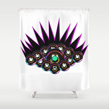 Donut Eyes Shower Curtain by Azima