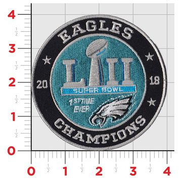 Iron On Eagles SB Winners Patch!!! World Champs Philly Eagles!!!! Super Bowl Patch and Sticker!!!