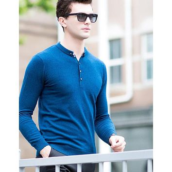 Pure Wool Men Sweaters Men's Casual Knitting Pullover Fashion Design Merino Fleece Male's Coat