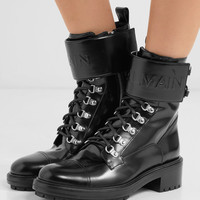 Balmain - Ranger logo-embossed leather ankle boots