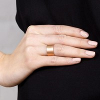 Brushed Band Ring - Rose Gold | MAYA MAGAL