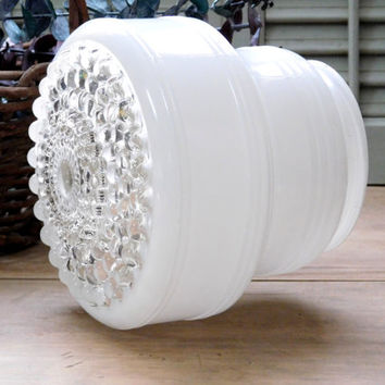 """Hobnail Ceiling Light Cover 4"""" opening"""