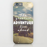The Greatest Adventure iPhone & iPod Case by Rachel Burbee