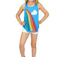 Made U Look Blue Rainbow Racerback Tank | Mod Angel