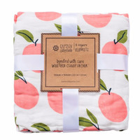 Peaches Muslin Blanket