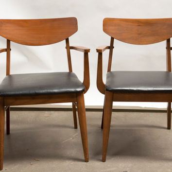Great Pair of Mid Century Eames Danish Style Teak Chairs