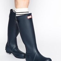 Hunter Original Navy Adjustable Wellington Boots