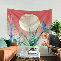 Unique Colorful Cactus Tapestry