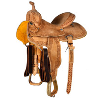 NRS Competitor Series Roughout Barrel Saddle with Feather Border