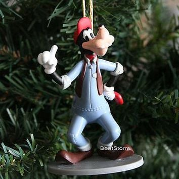 Licensed cool Disney Mickey Mouse Clubhouse Carwash Goofy Dog Christmas Ornament PVC Figure
