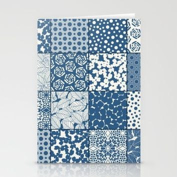 Tile Patchwork Stationery Cards by Eileen Paulino