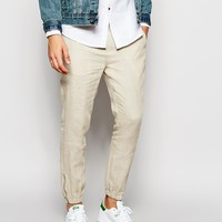 ASOS Slim Fit Joggers In Linen at asos.com