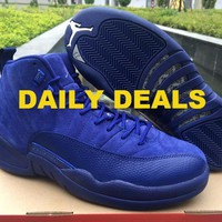 Nike Air Jordan 12 XII Retro Suede Deep Royal Blue 130690-400